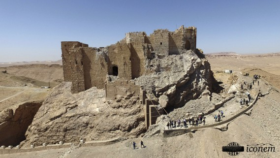 Les ruines du château Fakhr-al-Din al-Ma'ani, la Citadelle de Palmyre (AFP, fournie par la Direction générale de l'archéologie et des musées)