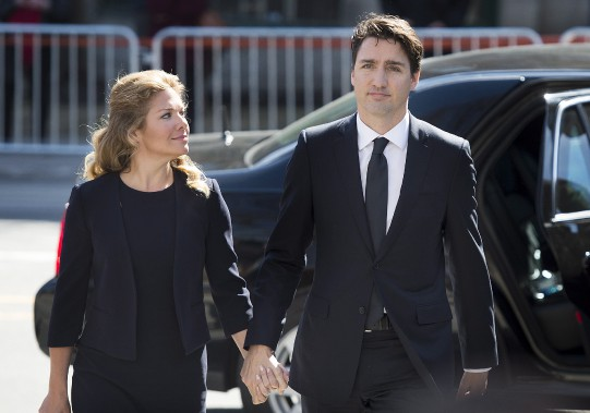 Le premier ministre du Canada, Justin Trudeau, et sa femme, Sophie Grégoire Trudeau (La Presse Canadienne, Graham Hugues)