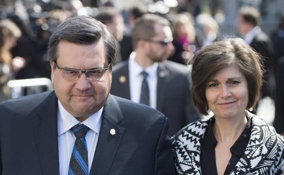 Le maire de Montréal, Denis Coderre, et sa femme, Chantale Renaud (La Presse Canadienne, Graham Hugues)