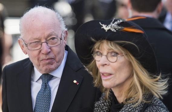 L'ancien premier ministre du Québec Bernard Landry et sa femme, Chantal Renaud (La Presse Canadienne, Graham Hugues)