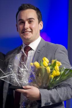 Un des quatre prix Coup de coeur du jury a été remis àMarc-Antoine Massicotte, président de Powerhouse Production Événementielle. (Martin Roy, LeDroit)