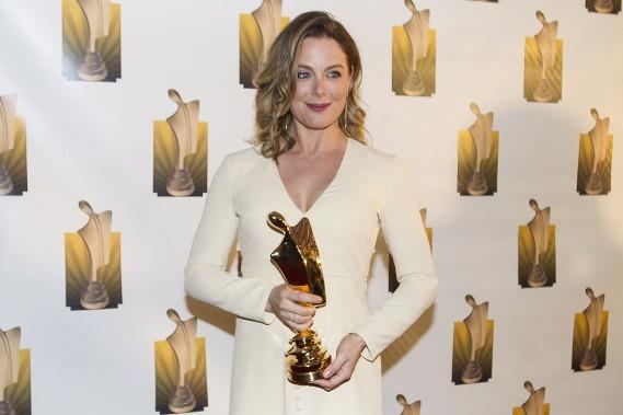 Julie Le Breton agagné le trophée du rôle féminin dans une comédie pour sa prestation dans «Les beaux malaises». (La Presse Canadienne, Graham Hughes)