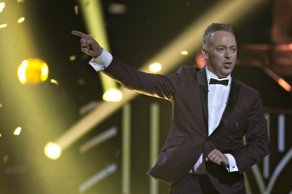 Guy Jodoin a animé le Gala Artis, dimanche. (La Presse, Olivier Jean)