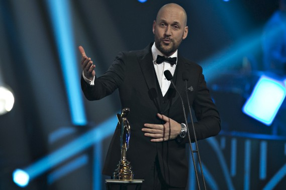 En plus d'être sacré personnalité masculine de l'année, Martin Matte a remporté le trophée Artis du meilleur rôle masculin dans une comédie (<i>Les beaux malaises</i>). (La Presse, Olivier Jean)