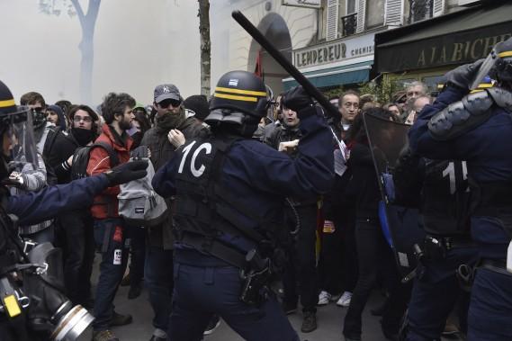La manifestation a tourné à la violence à Paris. (AFP, Alain Jocard)