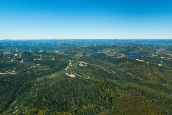 Parc d'éoliennes du Groupe Boralex à la Seigneurie de Beaupré ()