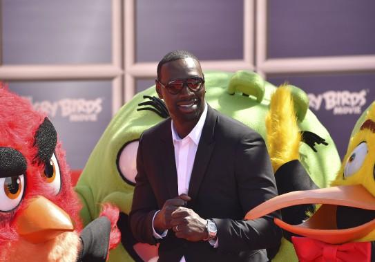 L'acteur français Omar Sy a participé mardi à une séance de photos pour le film d'animation <em>The Angry Birds Movie</em>, dans lequel il effectue du doublage. (AFP, Loïc Venance)
