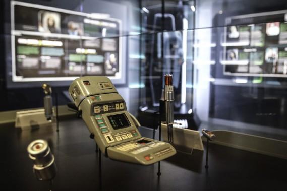 L'exposition, qui inclut de nombreux objets des séries télé de la franchise, aura lieu jusqu'au 5 septembre. (Patrick Woodbury, LeDroit)