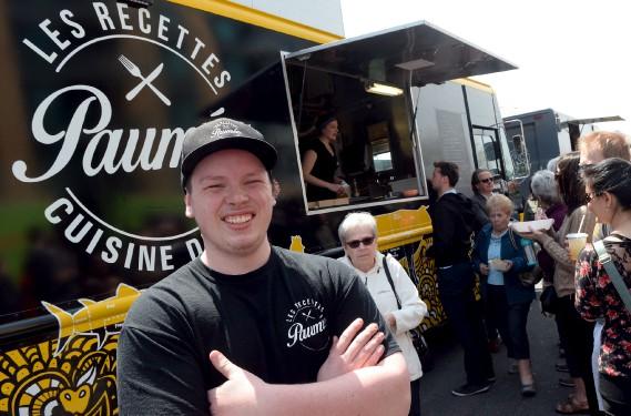 ÉtienneNadeau, du camion restaurant Les Recettes paumées (Le Soleil, Erick Labbé)
