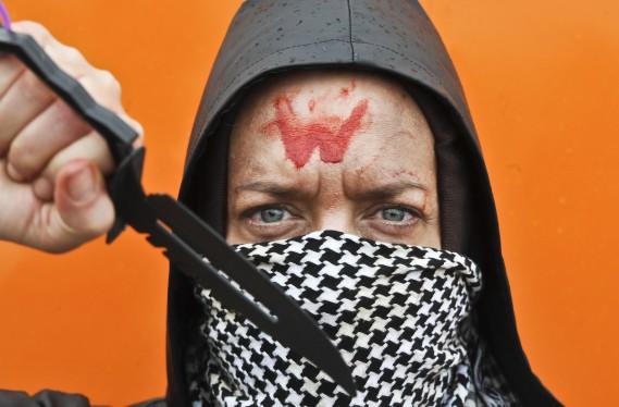 Kim Blanchefield incarne Carol, un des personnages de la série <em>Walking Dead.</em> (Martin Roy, LeDroit)