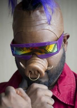 Bebop, un sinistre personnage qui affronte les <em>Teenage Ninjas Turtles</em> (Martin Roy, LeDroit)