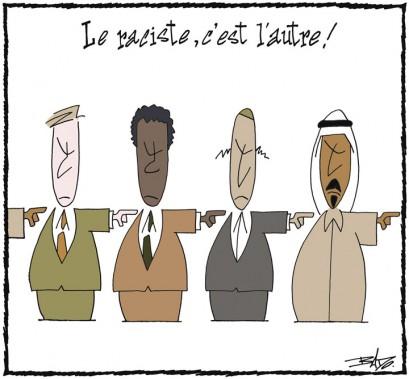 Caricature publiée le14 mars 2003, dans le cadre de la Semaine interculturelle. (Bado, LeDroit)