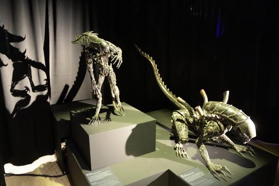 Clin d'oeil à Hollywood, ces créatures inspirées par le film <em>Alien</em>, suscitent un brin d'appréhension lorsqu'on les croise à La Pulperie. (Photo Le Progrès-dimanche, Jeannot Lévesque)