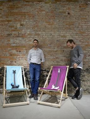Mathieu Doyon et Simon Rivest près de «Intermède» et «Indulgence» (Le Soleil, Yan Doublet)