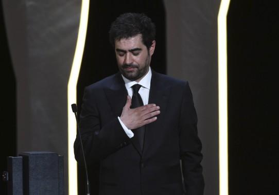 Shahab Hosseini a reçu le Prix d'interprétation masculine pour son rôle dans <em>Le client</em>. (AFP, Alberto Pizzoli)