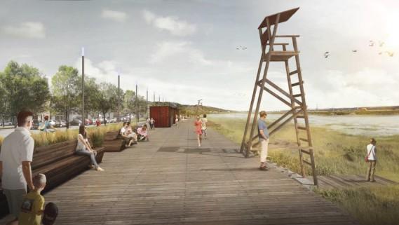 Dans le secteur Saint-Grégoire-de-Montmorency, le plan directeur prévoit l'aménagement d'une promenade riveraine. (Commission de la capitale nationale du Québec)