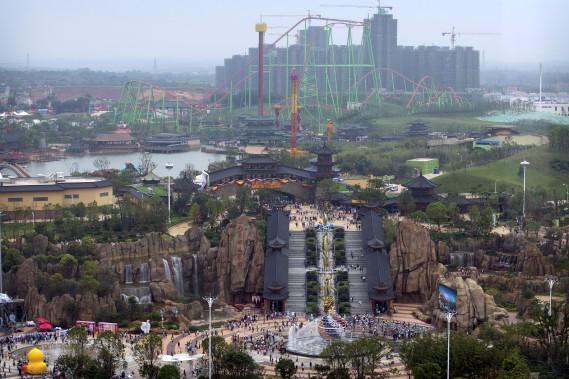 La Wanda City, située à Nanchang, est un parc à thème de 80 hectares. (AP, Mark Schiefelbein)