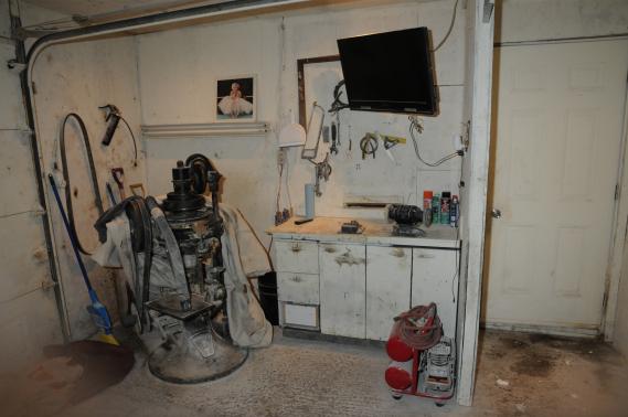 Un laboratoire de production de méthamphétamines démantelé par la SQ. (Photo fournie par la Sûreté du Québec)