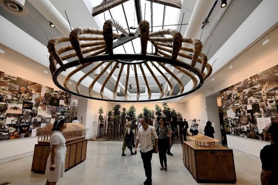 Le projet Bamboo réalisé par l'architecte Simon Velez (AFP, VINCENZO PINTO)