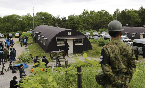 Le camp d'entraînement militaire où le garçon a été retrouvé dans la ville de Shikabe. (AFP)