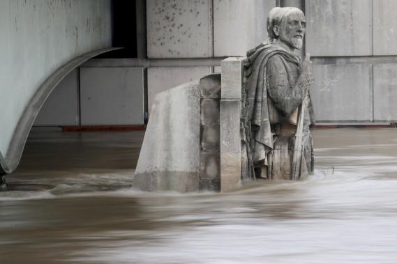 La statue du zouave au pont de l'Alma, à Paris (AFP, Joel Saget)