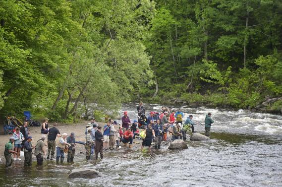 C'était la fête de la pêche en ville dimanche sur la rivière Saint-Charles, au parc Chauveau. (Le Soleil, Yan Doublet)