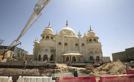 Le plus grand parc à thème du Moyen-Orientest en train de sortir du sable à Dubaï.Bollywood Parks Dubai est inspiré du cinéma indien et ambitionne d'améliorer l'attractivité de Dubaï pour les touristes d'Asie du Sud. (AFP, Marwan Naamani)
