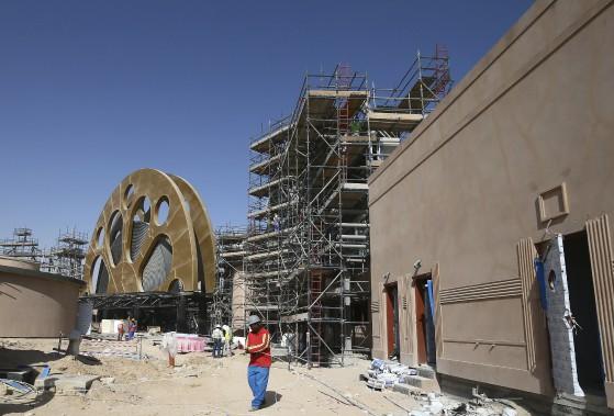 Motiongate Dubai, déjà en activité, recrée trois studios d'Hollywood avec des simulations de films. (AFP, Marwan Naamani)