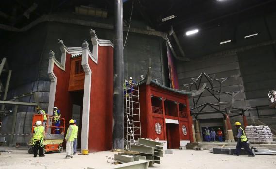 Motiongate Dubai recrée trois studios d'Hollywood avec des simulations de films commeKung Fu Panda. (AFP, Marwan Naamani)