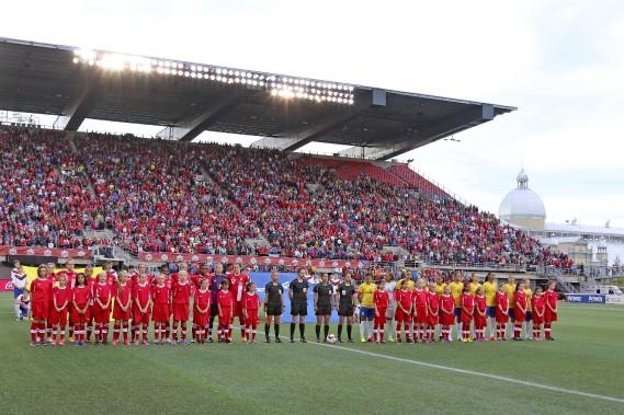 Foule record à Ottawa pour le soccer féminin, 23 568. (Patrick Woodbury, LeDroit)