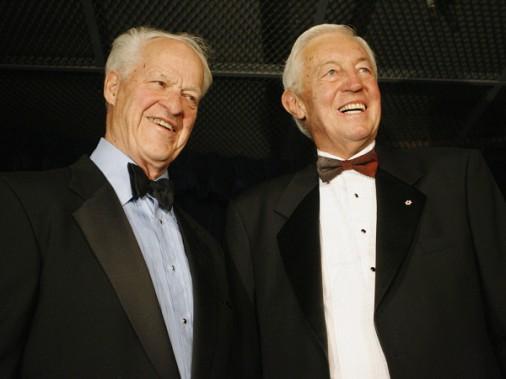 Jean Béliveau et Gordie Howe en 2007. (Photothèque La Presse)