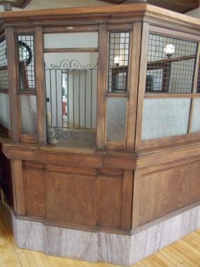 Le comptoir original de laCondon Bank, où Grat Dalton s'est présenté en compagnie de Bill Power et de Dick Broadwell. (Collaboration spéciale Ian Bussières)