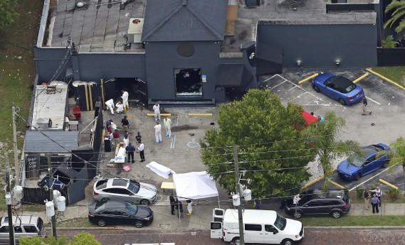 Vue aérienne de la boîte de nuit Pulse, à Orlando, où a eu lieu le carnage aux petites heures du matin. (AP, Red Huber)