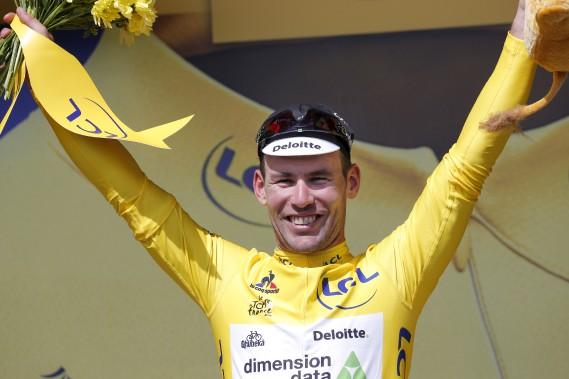 Mark Cavendish gagnant de la première étape du Tour de France. (AP, Christophe Ena)