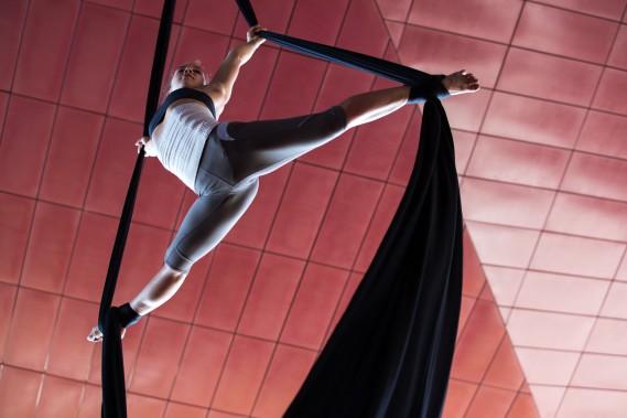 <span><span><span><span><span><span>Le Cirque du Soleil en répétition à l'Amphithéâtre Cogeco pour le spectacle </span></span></span><span><span><span><i>Tout écartillé</i></span></span></span><span><span><span>, un voyage dans l'univers de Robert Charlebois.</span></span></span></span></span></span> (Olivier Croteau)