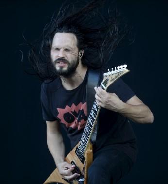Christian Andreu, le guitariste de Gojira, en première partie de Rammstein (Le Soleil, Yan Doublet)