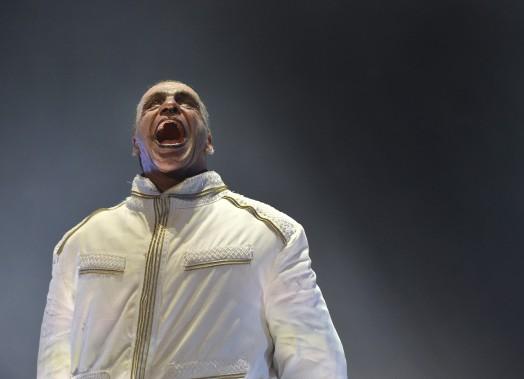 Till Lindemann, le chanteur de Rammstein, en prestation sur les plaines d'Abraham (Le Soleil, Yan Doublet)