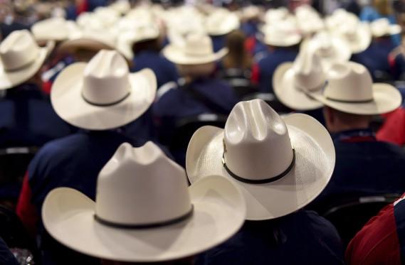Les délégués du Texas (AFP)