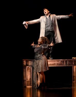 Pascal Charbonneau, dans le rôle de Ziggy, et Marie-Josée Lord, dans le rôle de Marie-Jeanne (Le Soleil, Yan Doublet)