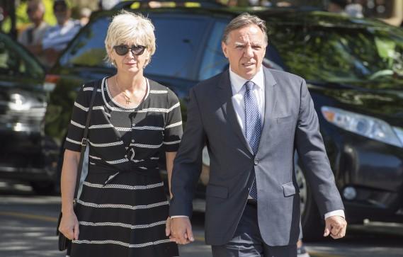 Le chef de la CAQ, François Legault, et sa femme, Isabelle Blais (La Presse Canadienne, Paul Chiasson)