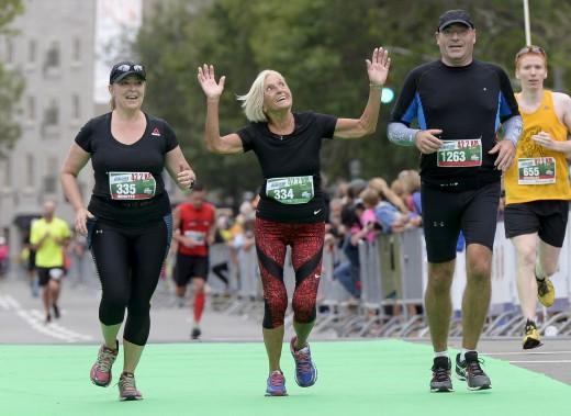 À 80 ans, Yvette Drapeau était la doyenne des coureurs qui ont pris part au marathon. (Le Soleil, Yan Doublet)