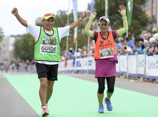 Ces participants prouvent qu'il n'y a pas d'âge pour courir un marathon! (Le Soleil, Yan Doublet)