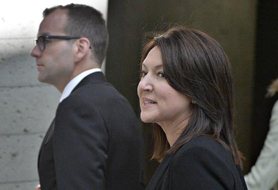 L'ex-vice-première ministre Nathalie Normandeau, accusée de fraude, corruption et abus de confiance, est apparue pour la première fois devant le tribunal lundi, au palais de justice de Québec. (Le Soleil, Patrice Laroche)