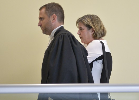 France Michaud, au palais de justice de Québec, le 29 août (Le Soleil, Yan Doublet)