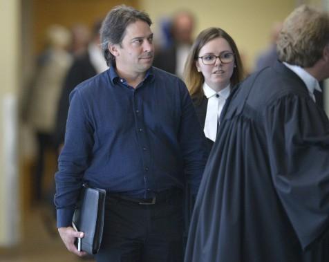 François Roussy, au palais de justice de Québec, le 29 août (Le Soleil, Yan Doublet)