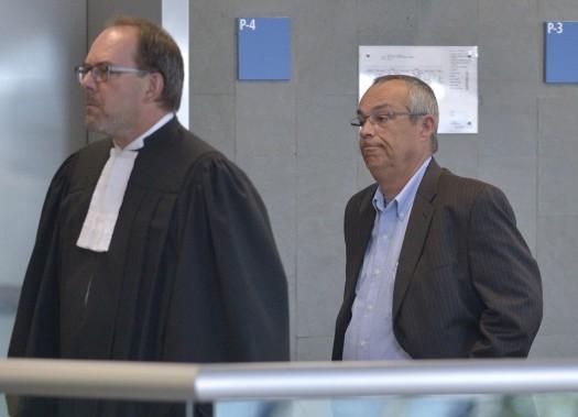 Bruno Lortie, au palais de justice de Québec, le 29 août (Le Soleil, Yan Doublet)