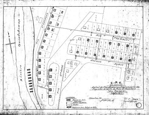 Plan de Val-Jalbert. (Village historique de Val-Jalbert)