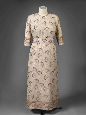 Robe de soirée portée pour une réception des dirigeants du Commonwealth en 1997 (Fournie par le Royal Collection Trust.)