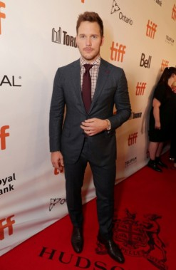 ChrisPratt à la première mondiale du film <i>Les 7 mercenaires</i>, produit par MGM et Columbia Pictures, lors de la soirée d'ouverture de l'édition 2016 du Festival international du film de Toronto (Canada), le jeudi 8septembre. ()