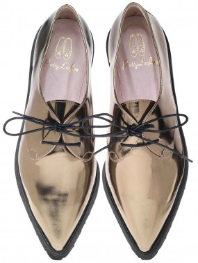 Lena Bronze Mirror (489$), de Pretty Loafers (Fournie par Pretty Ballerinas)